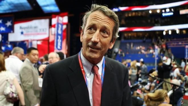 Sanford attends the Republican National Convention in August.
