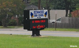 Kenwood High School sign