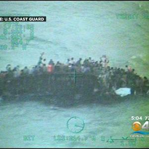 Coast Guard Video Captures Haitian Migrants On Capsized Boat
