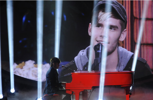 "Colton Dixon performs ""Piano Man"" by Billy Joel on ""American Idol."""