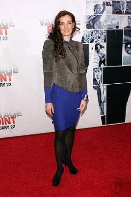 Ayelet Zurer at the New York City premiere of Columbia Pictures' Vantage Point