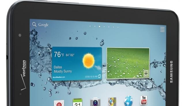 Samsung Galaxy Tab 2 7.0 launches Friday for $349.99 at Verizon