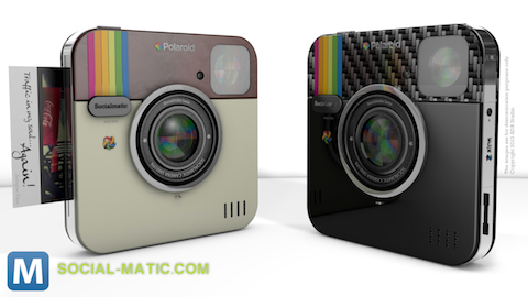 Socialmatic Camera Channels Instagram and Polaroid, Prints your Photos
