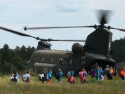 Raw: 5th Graders Airlifted From Colo. Flood Zone
