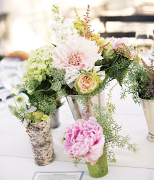 peonies wedding centerpiece