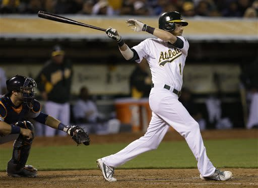 Donaldson's homer in 12th lifts A's past Tigers