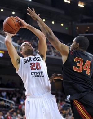 No. 25 San Diego State tops USC 66-60