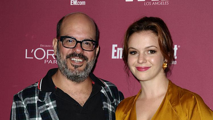 David Cross and actress Amber Tamblyn attend the EW And WIF pre-Emmy party at BOA Steakhouse on September 16, 2011 in West Hollywood, California.