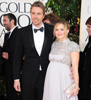 "FILE - In this Jan. 13, 2013 file photo, Kristen Bell and Dax Shepard arrive at the 70th Annual Golden Globe Awards at the Beverly Hilton Hotel in Beverly Hills, Calif. Bell tweeted Thursday, March 28, 2013, ""Welcome Baby Lincoln,"" confirming that she and fiance Shepard welcomed a new baby daughter.  (Photo by Jordan Strauss/Invision/AP, File)"