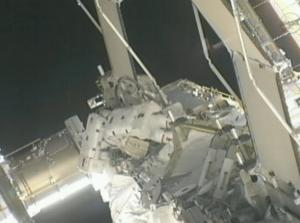 Spacewalking Astronauts Isolate Leak in Space Station Cooling System