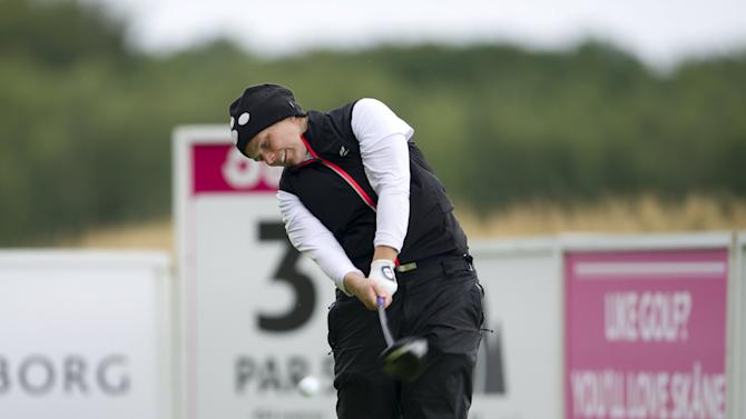 Jorgensen of Denmark tees of during the third round of the Helsingborgs Open in the Ladies European Tour at Vasatorps Golf Club in Helsingborg