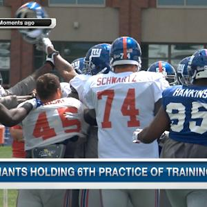 New York Giants clash and connect during training camp