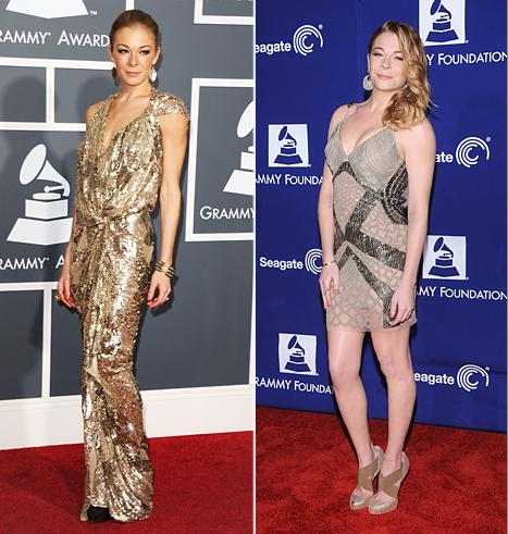 LeAnn Rimes Reveals New Curves at Pre-Grammy Event