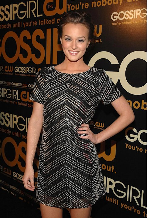 "Leighton Meester arrives at ""Gossip Girl"" premiere party at TenJune."