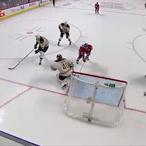 Tomas Plekanec sneaks it by Rask