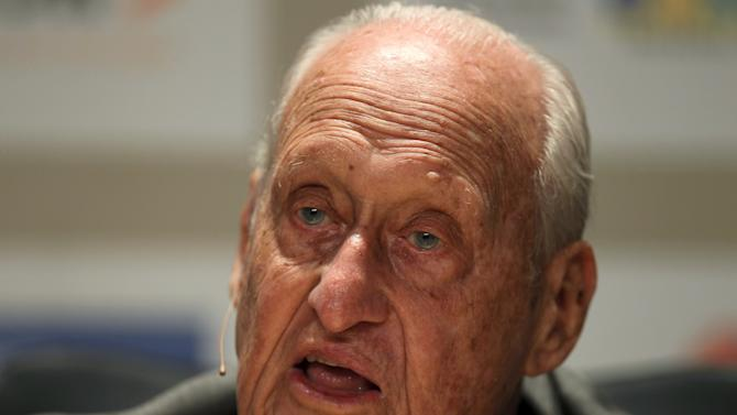 File photo of former FIFA President Joao Havelange attending the Soccerex global convention at Copacabana beach in Rio de Janeiro