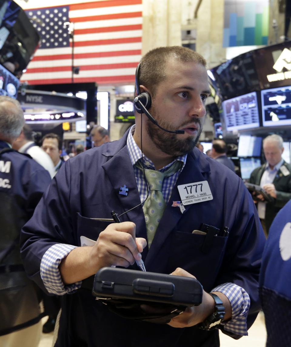 Stocks post mild gains following economic data