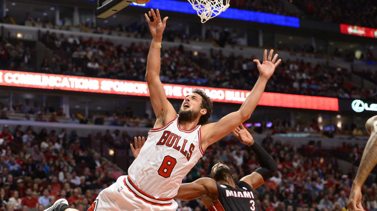 NBA: Playoffs-Miami Heat at Chicago Bulls