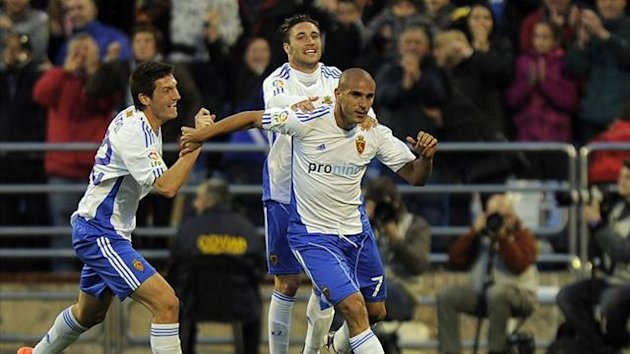Real Zaragoza forward Carlos Aranda (AFP)
