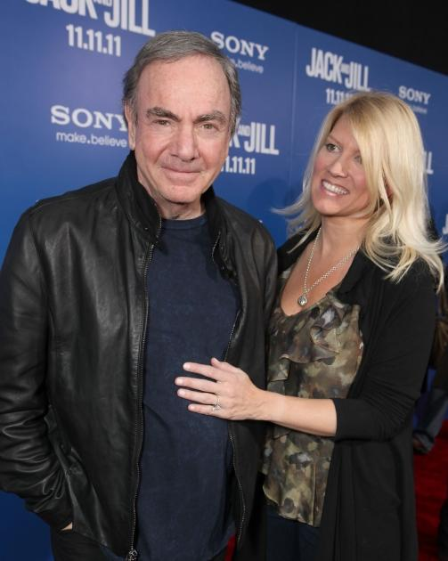 Neil Diamond and Katie McNeil at Columbia Pictures' World Premiere of 'Jack and Jill' at Regency Village Theatre in Los Angeles on November 6, 2011 -- Getty Premium