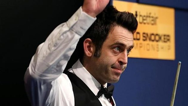 Ronnie O'sullivan at the World Snooker Championship (Reuters)