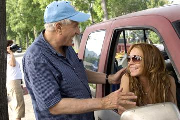 Director Garry Marshall and Lindsay Lohan on the set of Universal Pictures' Georgia Rule