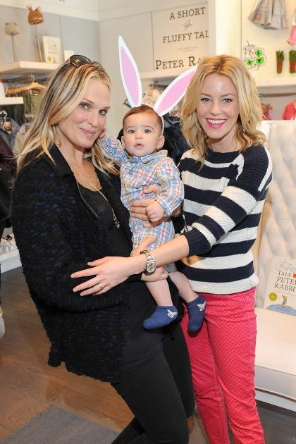 Molly Sims and son Brooks join Elizabeth Banks at babyGap's Peter Rabbit party in Los Angeles --
