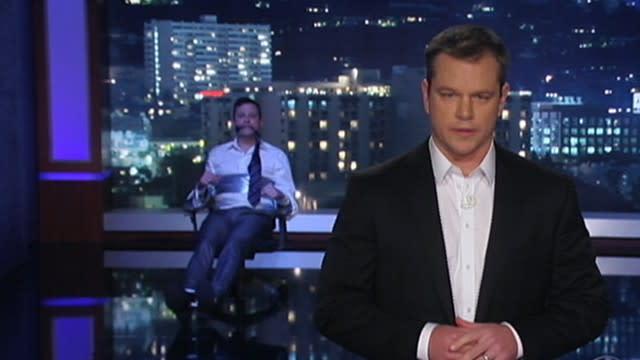 Jimmy Kimmel Tied Up While Matt Damon Hosts