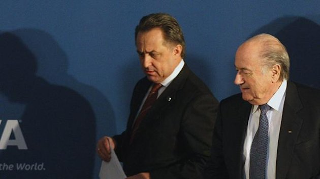 FOOTBALL Russian sports minister Vitaly Mutko with FIFA president Sepp Blatter