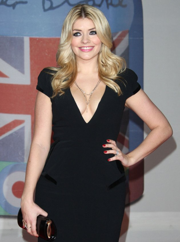 1. British TV presenter Holly Willoughby was named Best Celebrity Cleavage / WENN