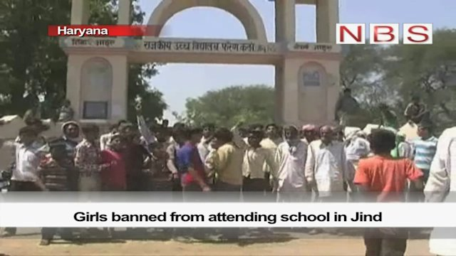 Girls banned from attending school in Jind