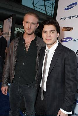 Emile Hirsch and Director Sean Penn at the Los Angeles premiere of Paramount Vantage's Into the Wild