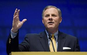 U.S. Senator Richard Burr speaks during the National Rifle Association's 139th annual meeting in Charlotte