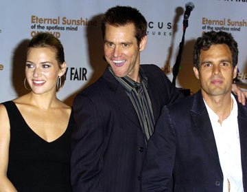 Kate Winslet, Jim Carrey and Mark Ruffalo Eternal Sunshine of The Spotless Mind DVD Release Party - 9/23/04