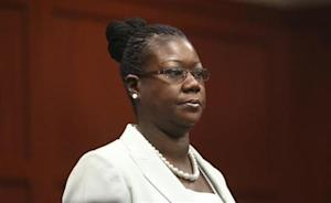 Trayvon Martin's mother Sybrina Fulton, arrives in the courtroom for George Zimmerman's trial in Seminole circuit court in Sanford