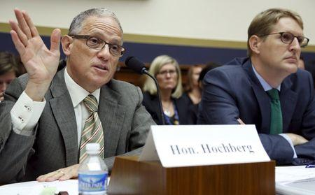 Hochberg and McCarthy testify before a House Financial Services Committee hearing on the Export-Import Bank's reauthorization, on Capitol Hill in Washington