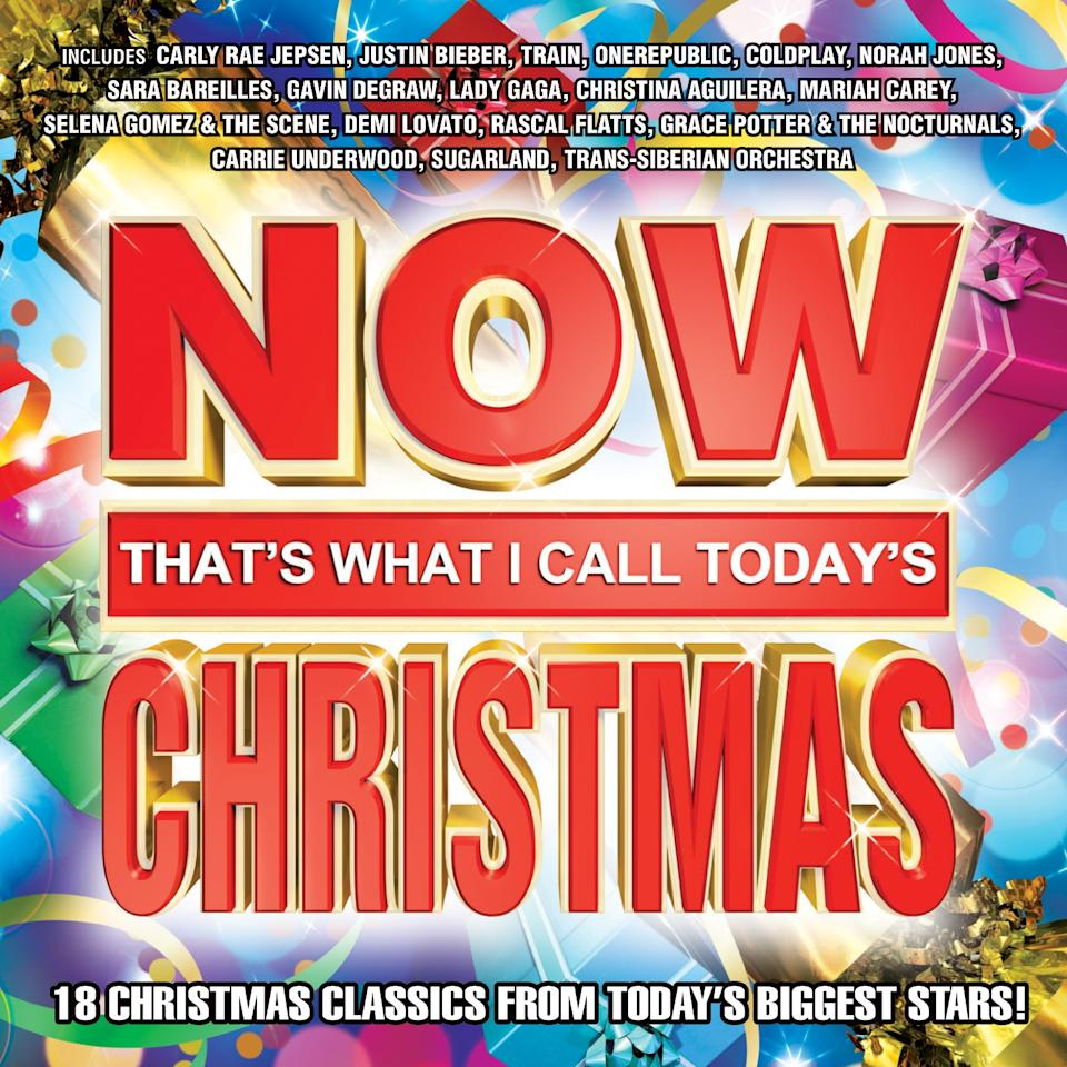"This CD cover image released by Capitol Records shows a holiday release, ""Now That's What I Call Today's Christmas,"" by various artists including Carly Rae Jepsen, Justin Bieber and Train. (AP Photo/Capitol Records)"