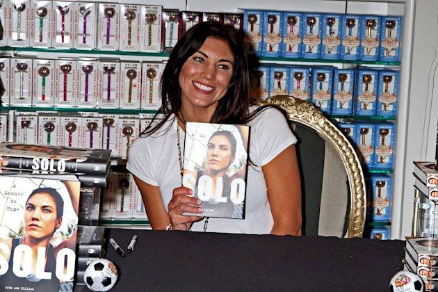 Olympic soccer player Hope Solo promote her book &amp;#39;Solo: A Memoir of Hope&amp;#39; at the Sugar Factory at the Paris Las Vegas Las Vegas, Nevada -28.09.12