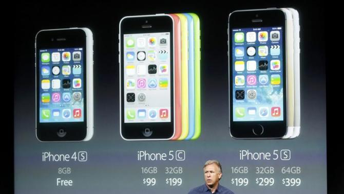 Phil Schiller, senior vice president of worldwide marketing for Apple Inc, talks about the pricing of their new products at Apple Inc's media event in Cupertino