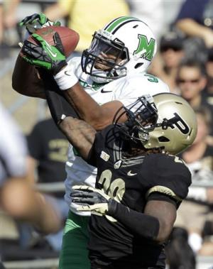 Defense leads Purdue past Marshall 51-41