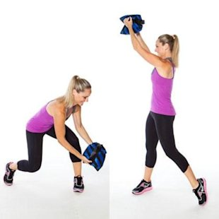 Try a sandbag or heavy pillow in place of a medicine ball