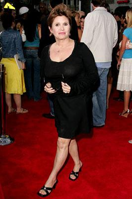 Carrie Fisher at the Hollywood premiere of Lions Gate Films' Undiscovered