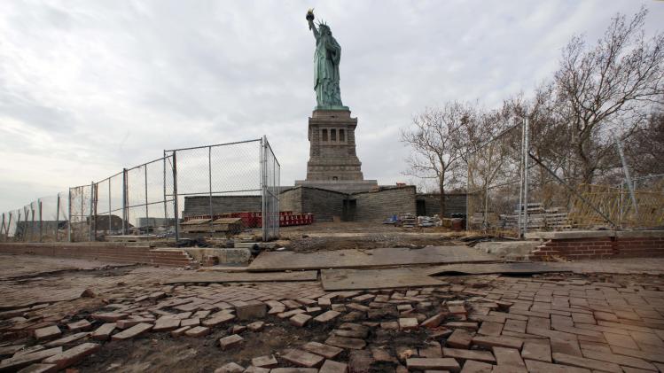 No estimate on reopening Liberty Island; statue OK