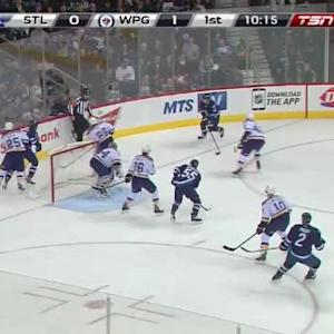 Jake Allen Save on Michael Frolik (09:53/1st)