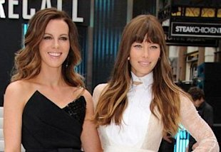Jessica Biel and Kate Beckingsale wow at the London premiere of Total Recall