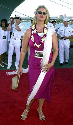 Premiere: Donna Dixon aboard the USS John C. Stennis at the Honolulu, Hawaii premiere of Touchstone Pictures' Pearl Harbor - 5/21/2001