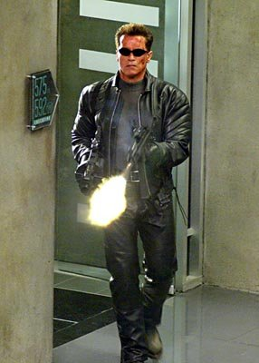 Arnold Schwarzenegger in Warner Brothers' Terminator 3: Rise of the Machines