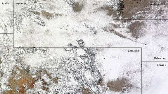 Record-Setting Snowfall Seen from Space