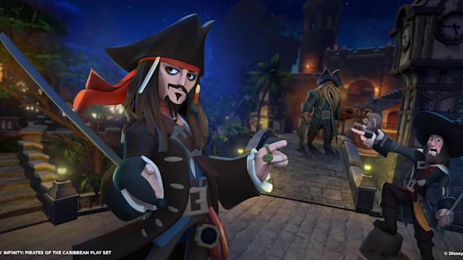 This undated publicity photo released by the Walt Disney Company shows the video game, Disney Infinity: Pirates of the Caribbean Play Set. (AP Photo/Walt Disney Company)