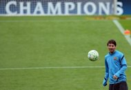Barcelona's Lionel Messi, seen here during a training session at the Camp Nou stadium in Barcelona, on the eve of their Champions League semi-final second leg match against Chelsea